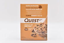 Quest 21g Protein Bar Chocolate Chip Cookie Dough, 12 Bars, EXP: 03/15/22