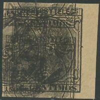 SPANIEN 1879 König Alfons XII 2 C. braunschwarz, selt. ungez. ungebr. Probedruck