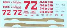 #72 Dons Collision Barracuda Super Stocker decal