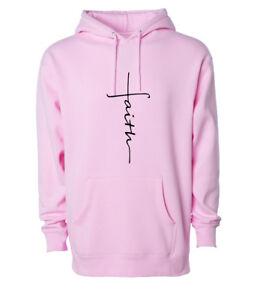 Faith Hoodie Jesus Religious Worship Sweatshirt Christianity Pullover Hooded