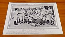 Baseball Comedians 1936 Original Illustrated Current News 19x12 Great Condition
