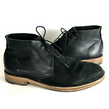 Acne Studios Mens Pedro boots 42 9 suede Lace-up Chukka Shoes black Italy