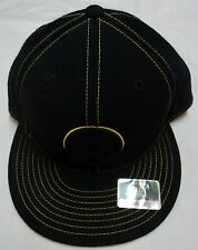 PITTSBURGH STEELERS NFL BLACK FITTED CAP BY REEBOK SIZE 7 3 8 BRAND NEW 18aa25798