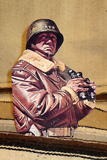 "General George Patton World War 2 Figure Tabletop Display Standee 10 3/4"" Tall"
