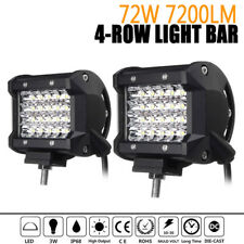 2x 4Inch Quad Row LED Work Light Spotlight Off-road Driving Fog Lamp Truck Boat