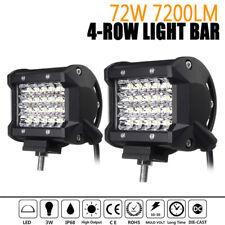 2x 4Inch Quad Row LED Work Light Spotlight Off-road Driving Fog Lamp Truck Boat