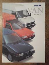 FIAT VAN gamma ORIG 1993 UK MKT Opuscolo Vendite-UNO FIORINO DUCATO Panorama