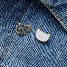 2pcs/set Cartoon Cat Animal Enamel Brooches Pins Badge Cute Jewelry Women Gift