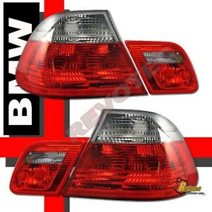 00-02 BMW E46 2 Door Coupe Red Smoke Tail Lights 1 Pair