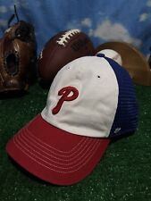 PHILADELPHIA PHILLIES 47 Brand MLB Blue fitted Flex fit  Cap Hat One Size h15