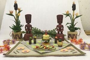 American Girl AG Minis Illuma Tiki Party Set - COMPLETE