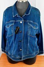 Lane Bryant Medium Wash Denim Jacket Plus Size 28 NWT