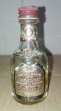 Bottiglia Mignon in Vetro Whisky Chivas Regal Tappo Metallo Vintage Collection