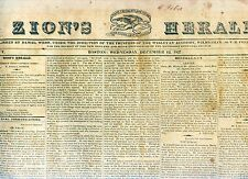 Newspaper - Northern Discoveries- Franklin Arctic Attack by Eskimos -Beecher1827