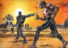 Neal Adams SIGNED DC Comic Art Print ~ Batman Dark Knight Vs Ra's al Ghul