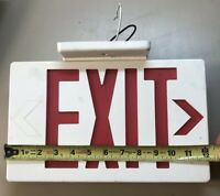 Plastic White LED Emergency Exit Sign Red Lettering For Parts/Repair