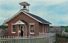 One Room School House Teacher Pioneer Farm Park Aurora IL Illinois Postcard