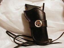 WESTERN COWBOY HOLSTER BLACK 4 3/4 CROSS DRAW COWBOY SINGLE ACTION
