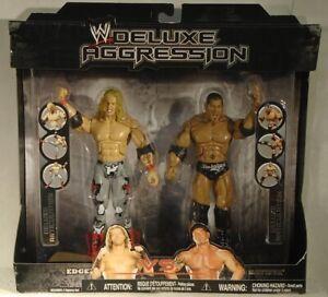 WWE Deluxe Aggression Edge Vs Dave Batista DLX Articulation Jakks SEALED RARE!