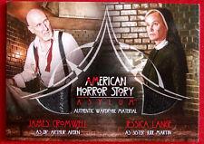AMERICAN HORROR STORY - ASYLUM - JAMES CROMWELL / JESSICA LANGE Costume Card CD2