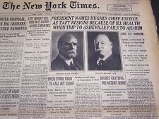 1930 FEB 4 NEW YORK TIMES - PRESIDENT NAMES HUGHES CHIEF JUSTICE - NT 4947