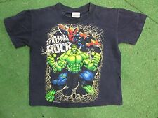 vintage spiderman versus Hulk yourth tshirt size XS