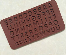 Letter Alphabet Silicone Chocolate Jelly Mould Baking Tray Party