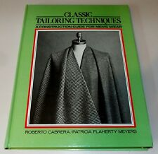 Classic Tailoring Techniques A Construction Guide For Men's Wear Hard Cover 1984