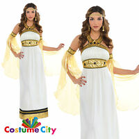 Womens Ladies Divine Goddess Costume Greek Roman Egyptian Empress Fancy Dress