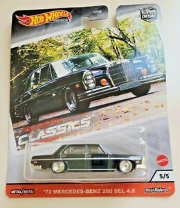 Hot Wheels '72 Mercedes-Benz 280 SEL 4.5 Black #5 Modern Classics 5/5