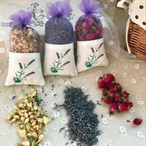 1pc Natural Dried Flower Sachet Rose Jasmine Lavender Car Home Aromatherapy Bag