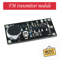 Frequency 85-115MHz FM transmitter module wireless microphone surveillance Black