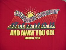 CALIFORNIA SCREAMIN' Red T-Shirt Disneyland Resort Adult Large - NEW NWT
