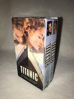 TITANIC, KATE WINSLET, LEONARD DICAPRIO, VHS, 2 TAPE SET