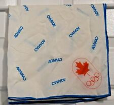 """TERRIART Canadian Olympics with Blue Trim 20"""" Square Scarf-Vintage"""