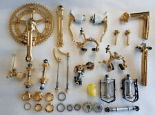 Gruppo Campagnolo Super Record Gold 24k special edition bike set Vintage Nos