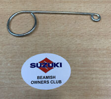 Suzuki Exacta/Beamish. Mark 1/2/3. Front Brake Cable Tidy. Zinc Plated. 1974-78