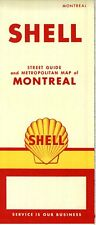 1958 Shell Road Map: Montreal NOS
