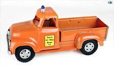 Awesome 1950s Restored Vintage Tonka 'State Hi-Way Dept 975' Orange Truck