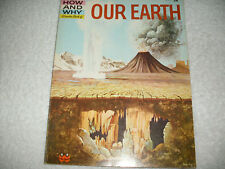 Kids vintage paperback:Our Earth The How and Why Wonder Book-1960-rocks,glaciers