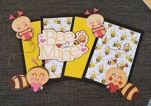 love bee mine scrapbook set photo mat & printed die cuts set #471