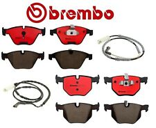 For BMW E90 E92 325xi Front and Rear Ceramic Brake Pads with Sensors Kit Brembo
