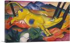 ARTCANVAS Yellow Cow 1911 Canvas Art Print by Franz Marc