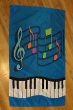 MUSIC NOTES AND KEYBOARD FLAG - FLAG -YARD DECOR