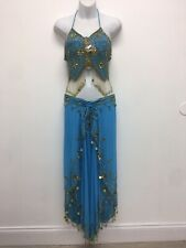 (#110434)New With Gold Beads Sequins Coins Belly Dance Costume Skirt Like Pants