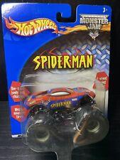NEW IN BOX Hot Wheels Monster Jam Truck 2001 Spider-Man 1:64