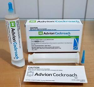 2 X 30g Genuine Syngenta Advion Cockroach Control Gel bait Tubes Fast Shipping