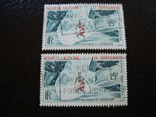 NOUVELLE CALEDONIE timbre yt aerien n° 67 x2 obl (A4) new caledonia (A)