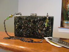 Authentic Mary Frances Green Tea Emerald 12-461 Clutch Handbag Evening Bag NWT