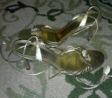 Antonio Melani sz 9.5 strappy heels sandals GOLD Excellent Condition!